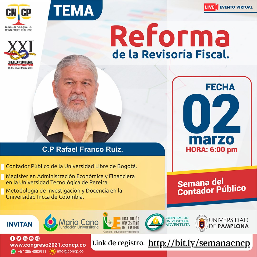 Conferencia virtual: Reforma de la Revisoría Fiscal